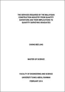 The services required by the Malaysian construction industry from