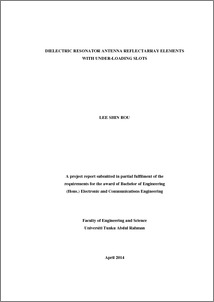 Thesis in electronicsand antenna engineering