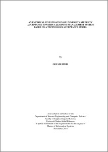 Learning management system dissertation thesis