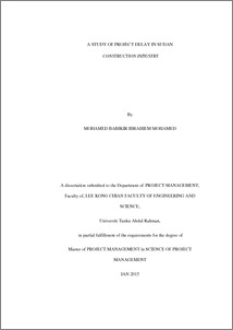 Delay in construction dissertation