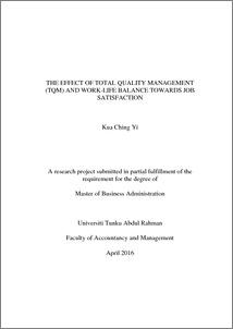 Master thesis tqm