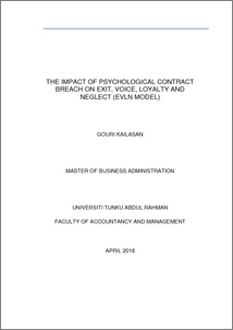 The Impact Of Psychological Contract Breach On Exit Voice Loyalty